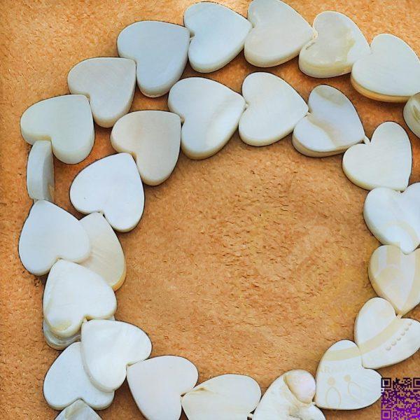 مهره صدفی قلب بندی-کد11